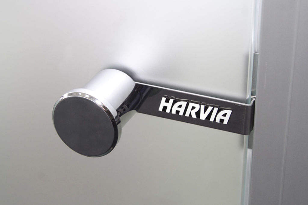 Дверь для сауны Harvia 8х19 (стеклянная, сатин, коробка сосна), D81905M