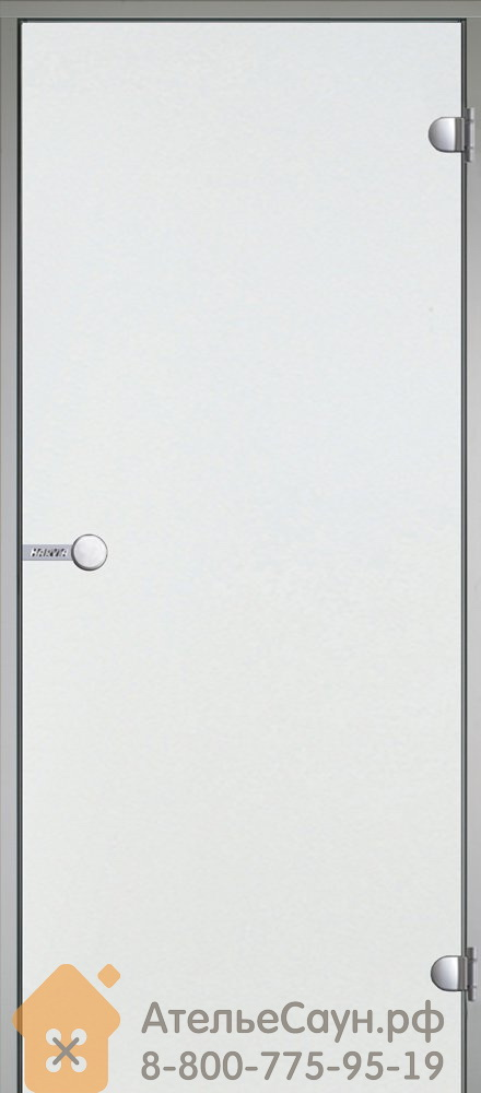 Дверь для турецкой парной Harvia 8х19 (прозрачная, коробка алюминий), DA81904
