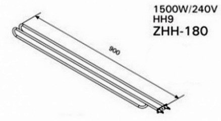 ТЭН Harvia ZHH-180 (1500 W, для печи Hidden Heater HH9)