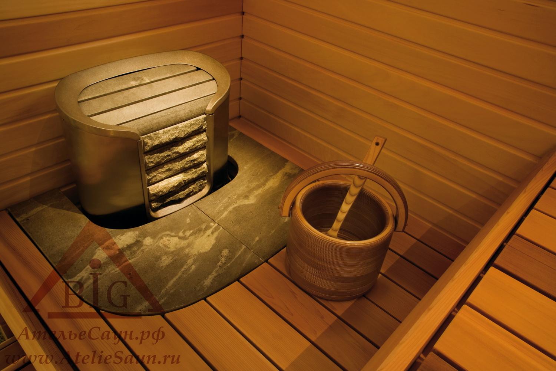 Печь для сауны Helo Cava 90 DE (без пульта, матовая нержавейка)