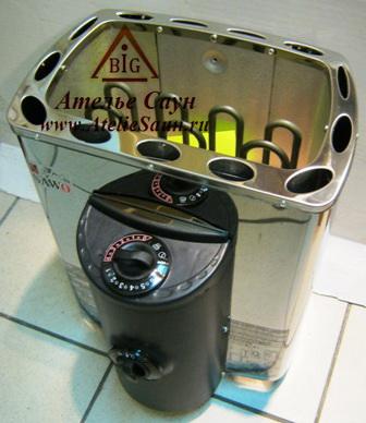 Печь для сауны Sawo Mini X MX-30 NB-Z (с пультом, снаружи нержавейка, внутри оцинковка)
