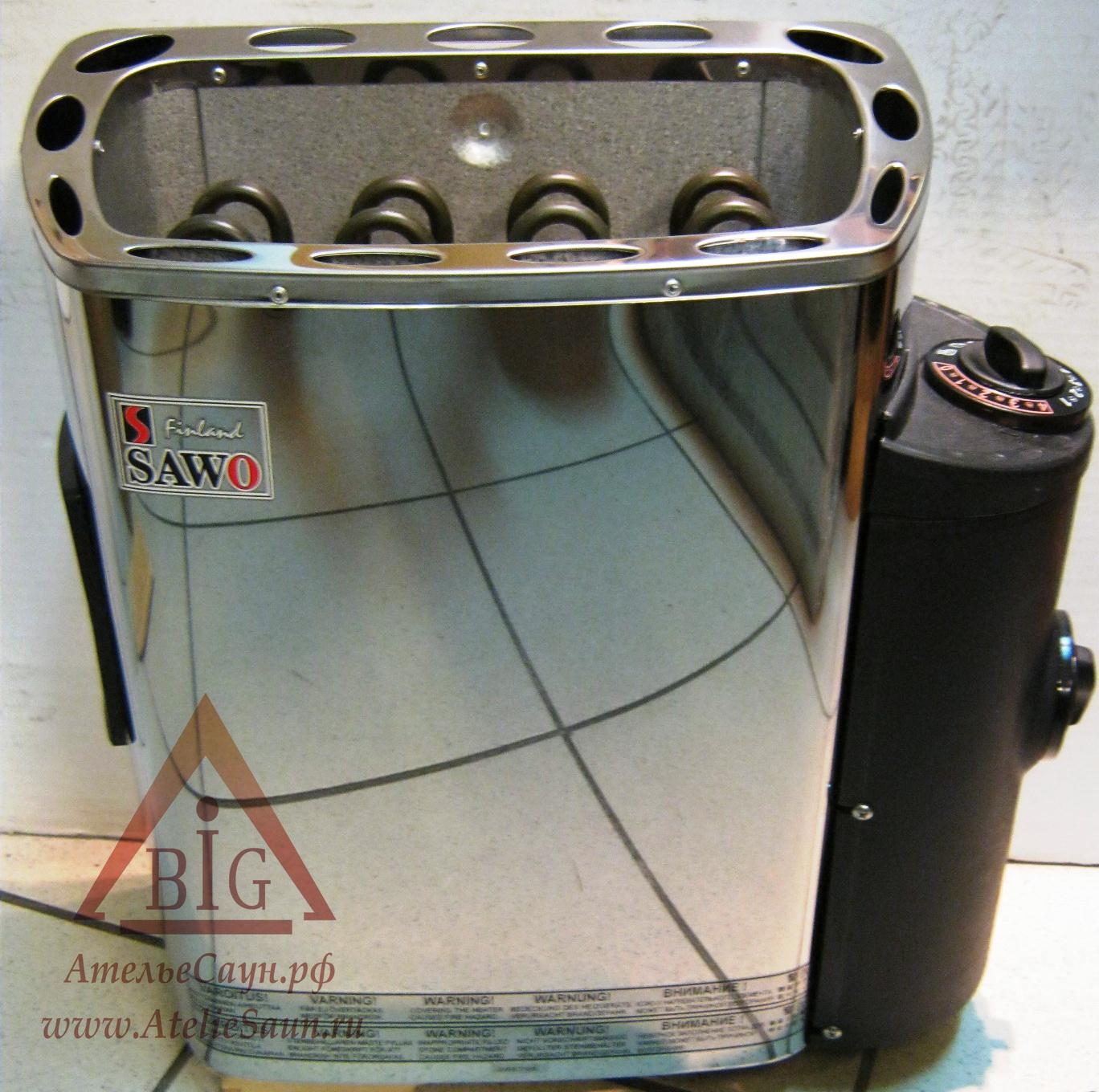 Печь для сауны Sawo Mini MN-36 NB-Z (с пультом, снаружи нержавейка, внутри оцинковка)