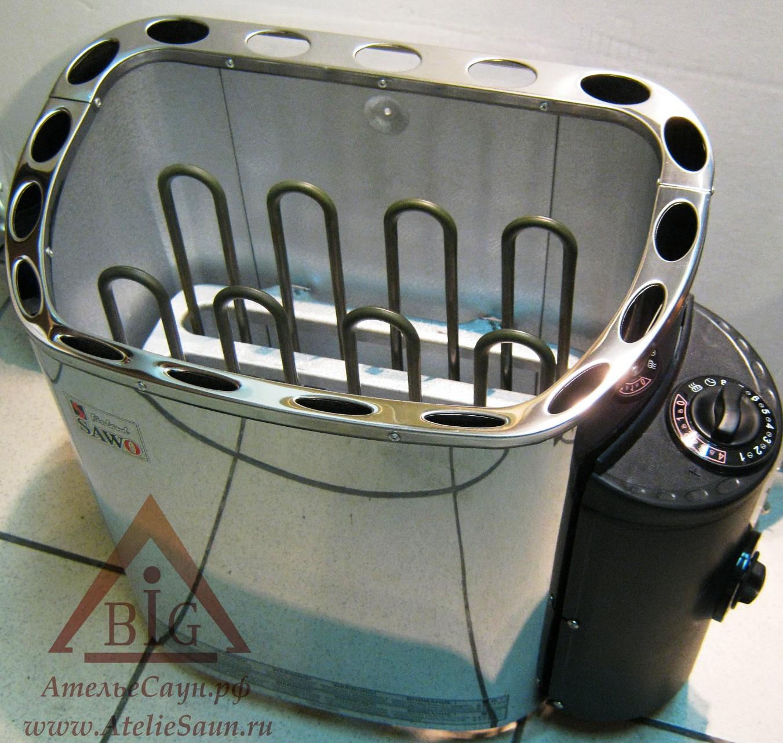 Печь для сауны Sawo Scandia SCA-90 NB-Z (с пультом, снаружи нержавейка, внутри оцинковка)