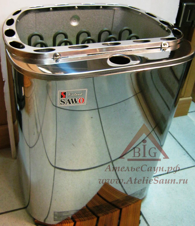 Электрическая печь Sawo Scandia Combi SCAC-90 NS-Z с парогенератором (без пульта, снаружи нержавейка, внутри оцинковка, без автозалива)