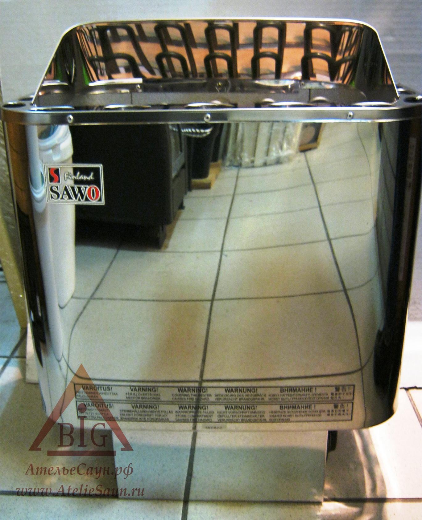 Печь для сауны Sawo Nordex NR-90 NB-Z (с пультом, снаружи нержавейка, внутри оцинковка)