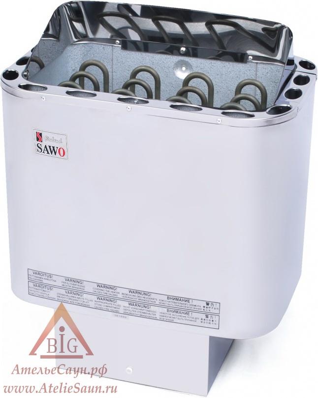 Печь для сауны Sawo Nordex NR-45 NS-Z (без пульта, снаружи нержавейка, внутри оцинковка)