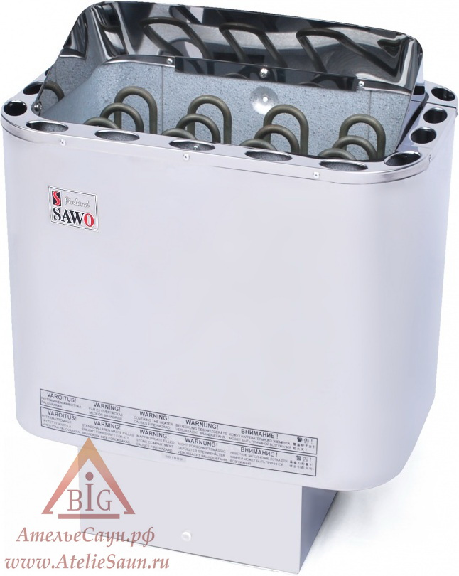 Печь для сауны Sawo Nordex NR-90 NS-Z (без пульта, снаружи нержавейка, внутри оцинковка)