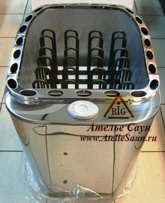Электрокаменка Sawo Savonia Combi SAVC-105 N-Z с парогенератором (без пульта, снаружи нержавейка, внутри оцинковка)