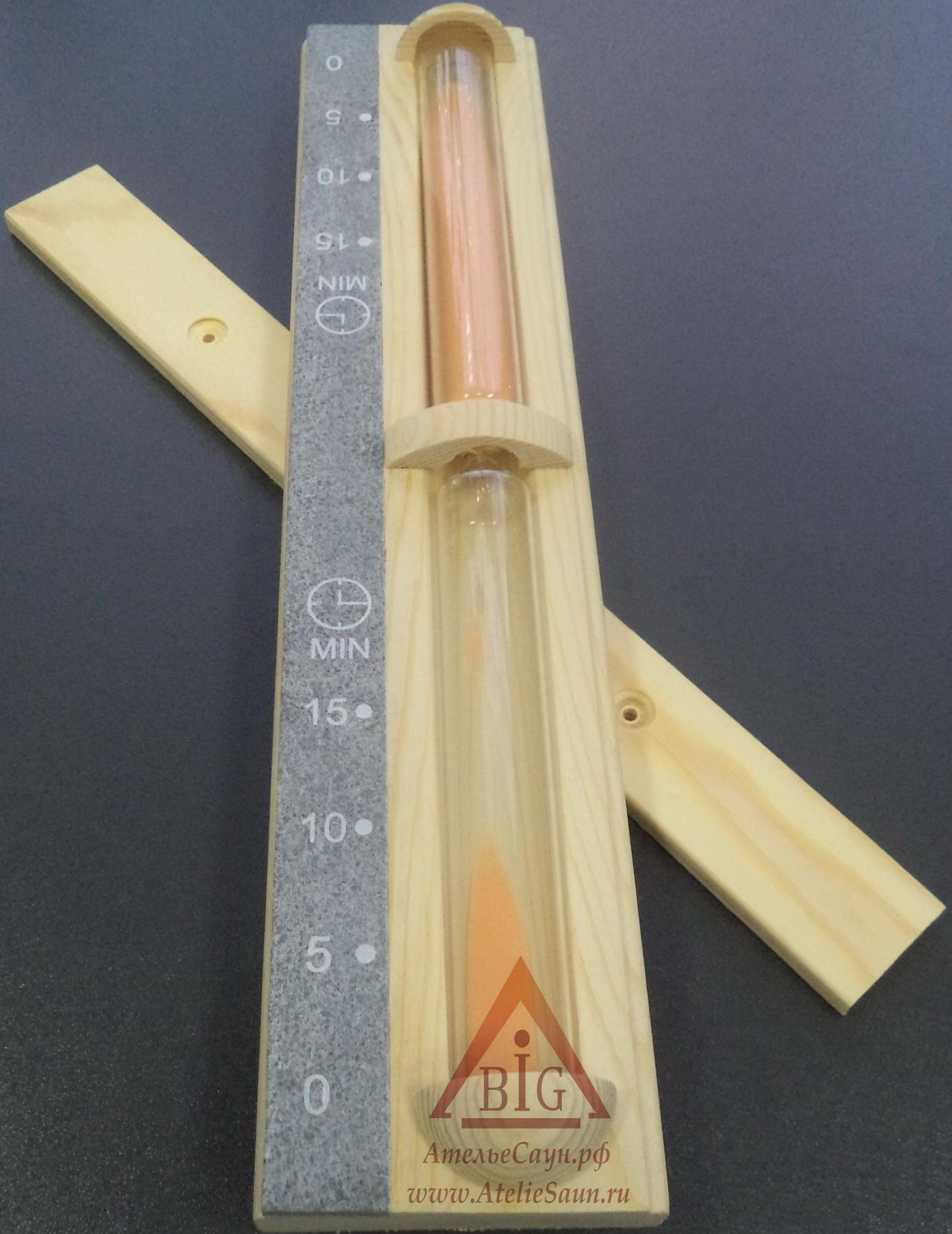 Часы песочные Sawo 550-RР (сосна, вставка талькохлорит)