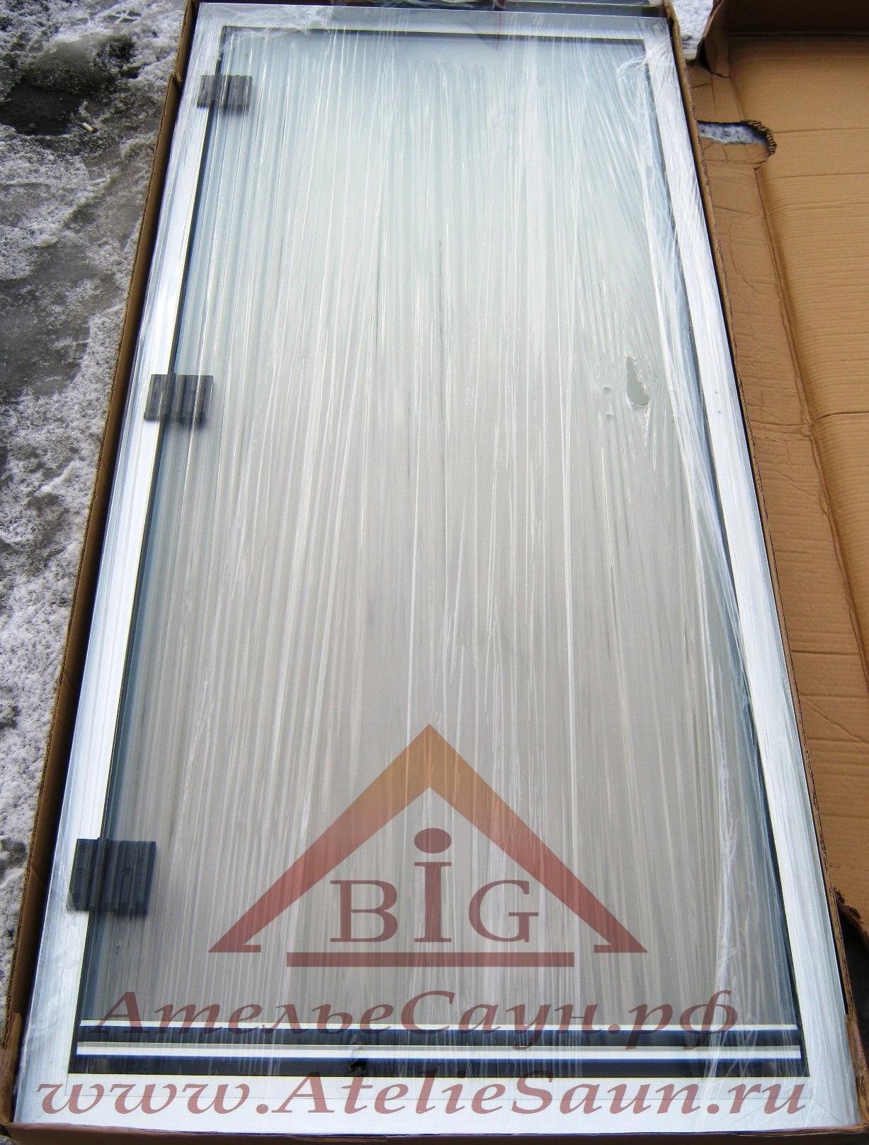 Дверь для турецкой парной Sawo 740-L (785x1850 мм, левая, коробка алюминий)
