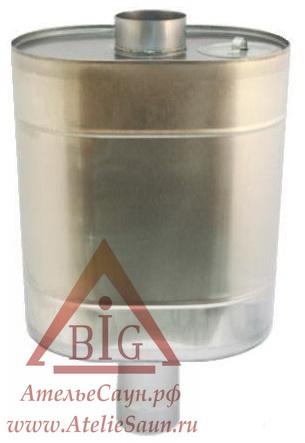 Бак для бани из нержавейки, 55 (на трубу D 105 мм)