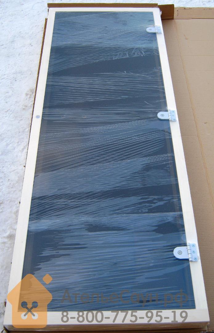 Дверь для сауны Sawo 730-4SGА (7х19, бронза, с порогом, осина)