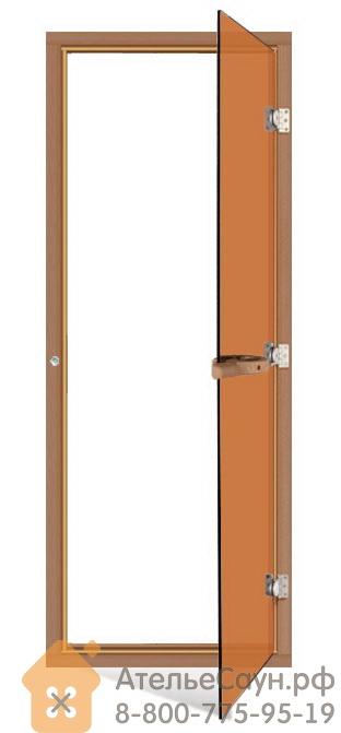 Дверь для сауны Sawo 730-4SGD (7х19, бронза, с порогом, кедр)