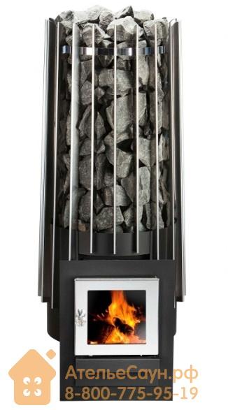 Дровяная печь для бани Helo Rocher Wood L SL (кожух сетка, тоннельная топка)