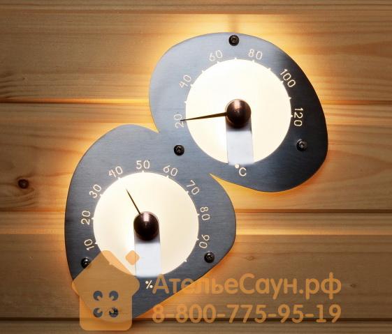 Термогигрометр для сауны Cariitti (1545822, нерж. сталь, требуется 2 оптоволокна D=2-4 мм)