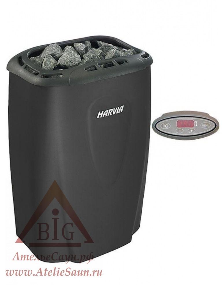 Электрическая печь Harvia Moderna V 80 E-1 Black (с выносным пультом)