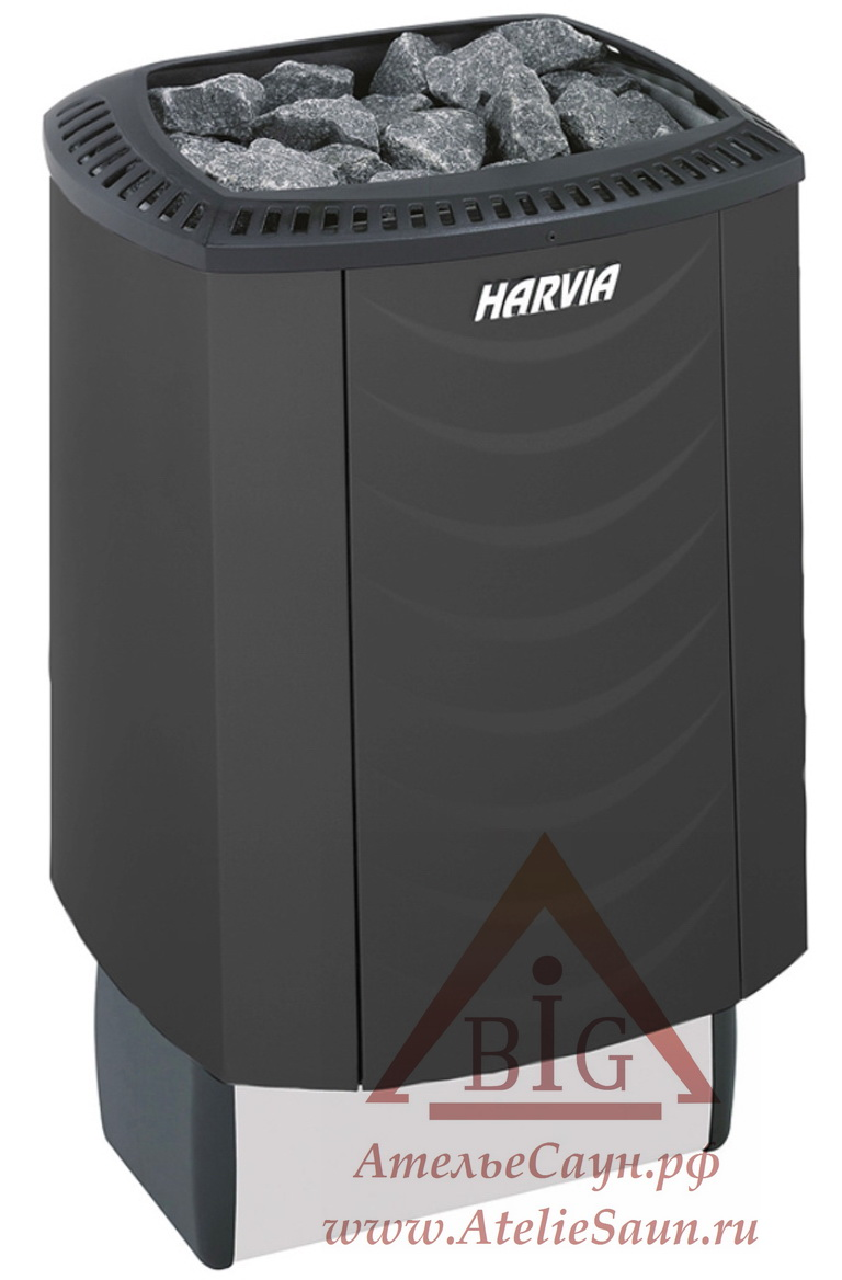 Электрическая печь Harvia Sound M 45 Black (со встроенным пультом)