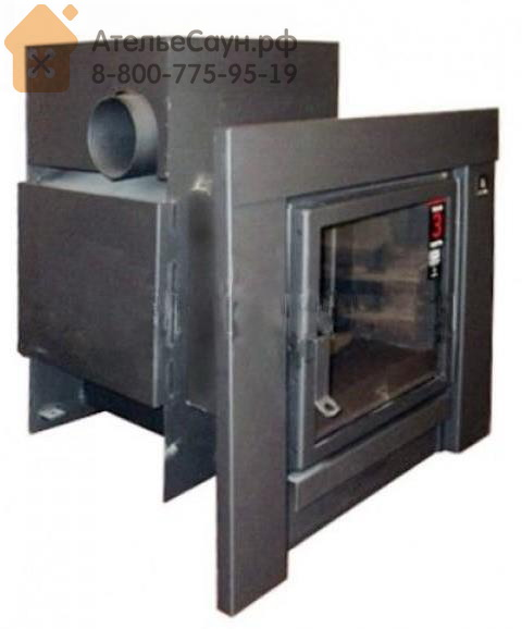 Печь для бани Kastor KSIS 20 TS (с боковым выходом дымохода, черная рамка, без кожуха, арт. 083341)