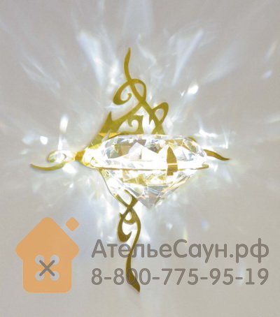 Светильник для сауны Cariitti Kihla (1545831, золото, хрусталь)