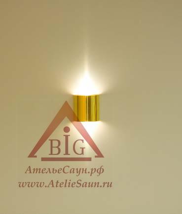 Светильник для сауны Cariitti SX (1545035, золото, требуется 1 оптоволокно D=4-6 мм)