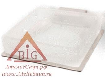 Мыльница Cariitti SCQ 100 LED (1545668, матовое стекло, требуется блок питания)