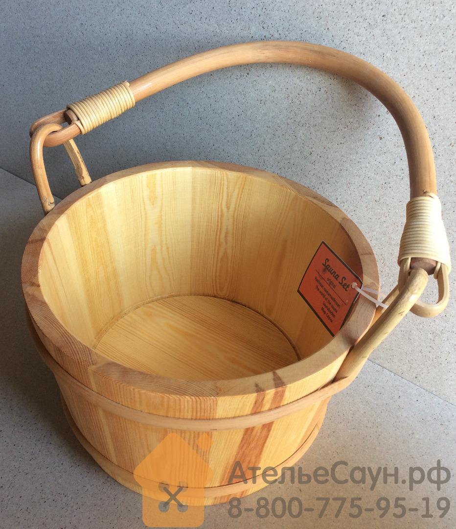 Ведро для бани SaunaSet №112 (8 л, сосна)