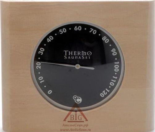Гигрометр для бани с черным табло, SaunaSet №121