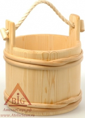 Традиционная шайка для бани SaunaSet №231 (7 л, сосна)