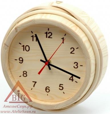 Часы SaunaSet №108 (сосна, для предбанника)