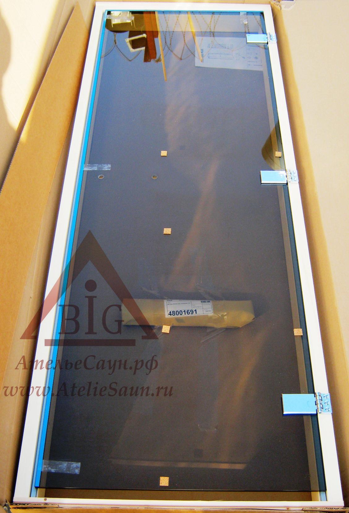 Дверь для сауны Tylo DGL 7x19 (бронза, осина, арт. 91031700)