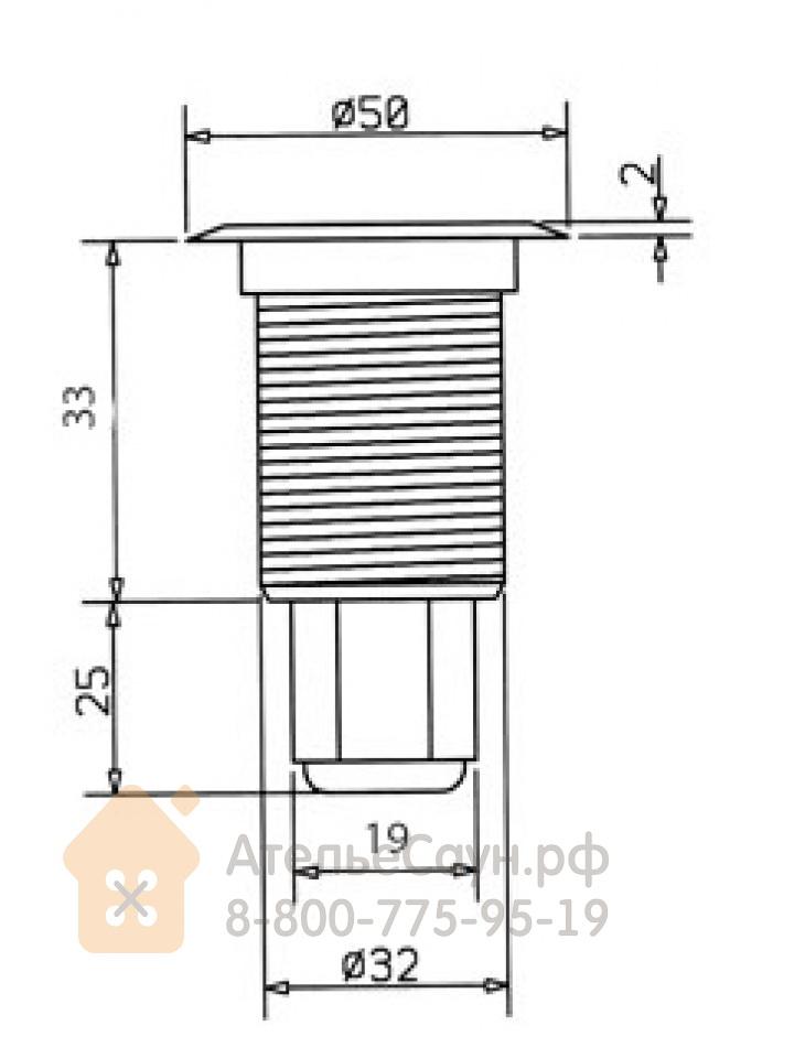 Светодиодный светильник Cariitti S-Paver Led 3300 (1553037, IP68, возможна подводная установка)